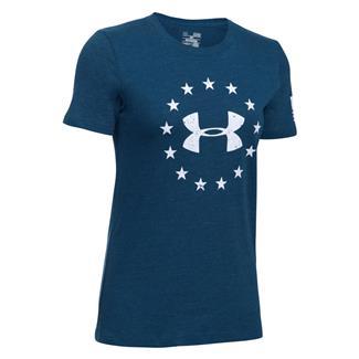 Under Armour HeatGear Freedom T-Shirt Blackout Navy / White