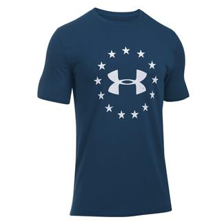 Under Armour HeatGear Freedom T-Shirt Blackout Navy