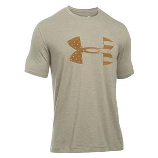 Under Armour Tonal Big Flag Logo T-Shirt Desert Sand / Coyote Brown