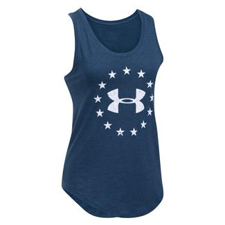 Under Armour HeatGear Freedom Tank Blackout Navy / White