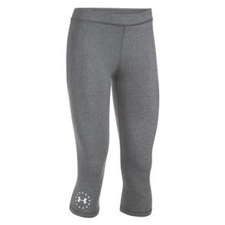 Under Armour HeatGear Freedom Capris Carbon Heather / White