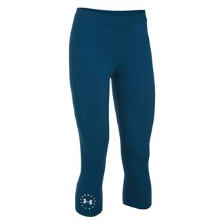 Under Armour HeatGear Freedom Capris Blackout Navy / White
