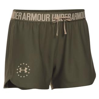 Under Armour HeatGear Freedom Shorts Marine OD Green / Desert Sand