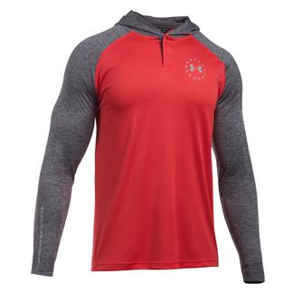 Under Armour Freedom Tech Hoodie Red / Carbon Heather / Overcast Gray