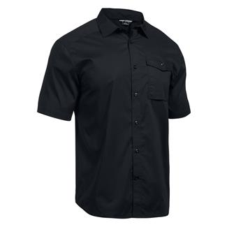Under Armour Concealed Carry Short Sleeve Button Up Black