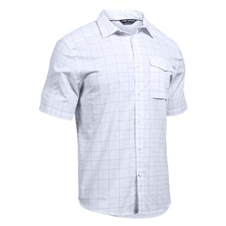 Under Armour Concealed Carry Short Sleeve Button Up White (Arena Plaid)