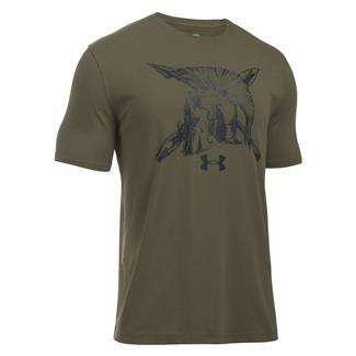 Under Armour Tactical Spartan T-Shirt Marine OD Green / Black
