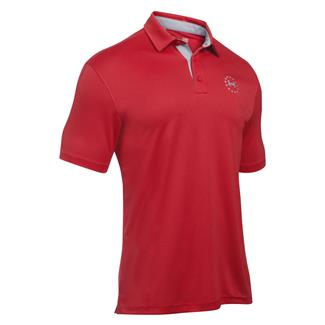 Under Armour Freedom Tech Polo Red / Overcast Gray