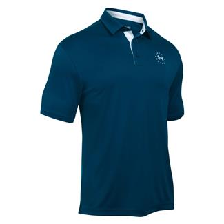 Under Armour Freedom Tech Polo Blackout Navy / White