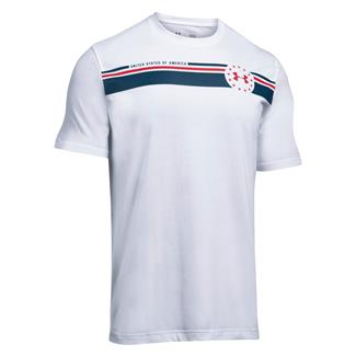 Under Armour 4th of July T-Shirt White / Blackout Navy