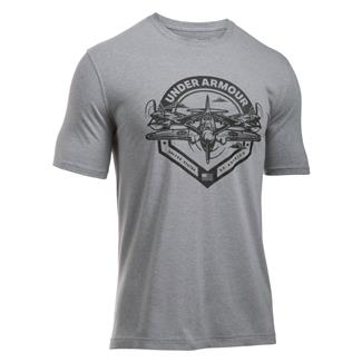 Under Armour Freedom By Air T-Shirt True Gray Heather / Black