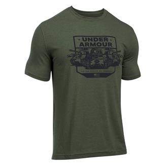 Under Armour Freedom By Land T-Shirt Downtown Green / Black