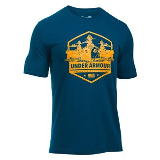 Under Armour Freedom By Sea T-Shirt Blackout Navy / Steeltown Gold