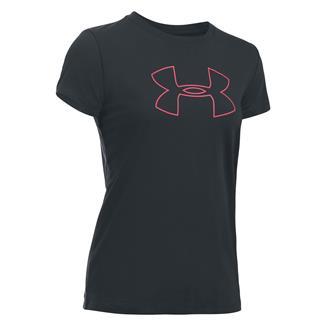 Under Armour Favorite Big Logo T-Shirt Anthracite / White / Pink Shock