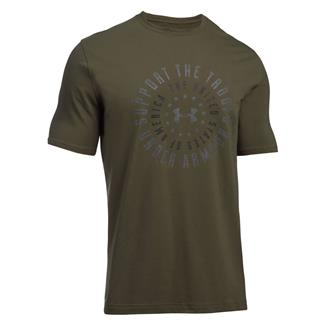 Under Armour Freedom Support the Troops T-Shirt Marine OD Green / Graphite