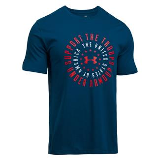 Under Armour Freedom Support the Troops T-Shirt Blackout Navy / White