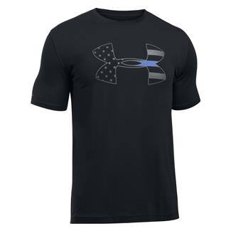 Under Armour Freedom Thin Blue Line T-Shirt Black / Graphite