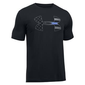 Under Armour Freedom Thin Blue Line T-Shirt Black / Graphite