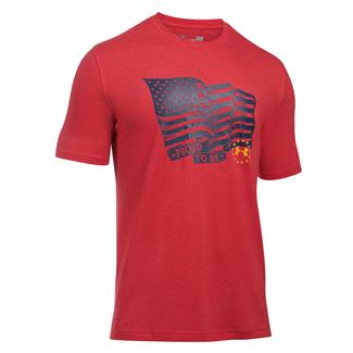 Under Armour Freedom Proud American T-Shirt Red / Steeltown Gold