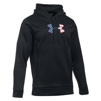 Under Armour Freedom Big Flag Logo Hoodie Black / Graphite