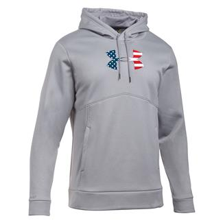 Under Armour Freedom Big Flag Logo Hoodie True Gray Heather / Black