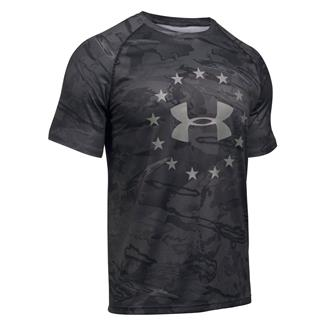 Under Armour Freedom Camo Tech T-Shirt Black Tonal Reaper / Graphite