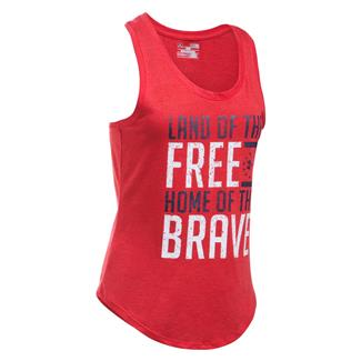 Under Armour Freedom Home Of The Brave Tank Red / White