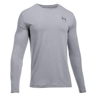 Under Armour Freedom Flag Long Sleeve T-Shirt True Gray Heather / Black