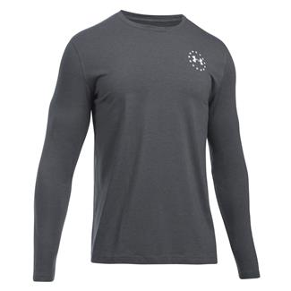 Under Armour Freedom Flag Long Sleeve T-Shirt Carbon Heather / White