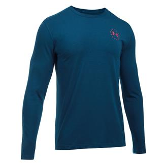 Under Armour Freedom Flag Long Sleeve T-Shirt Blackout Navy / Red