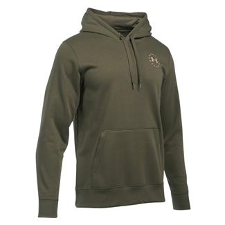 Under Armour Freedom Flag Rival Hoodie Marine OD Green / Desert Sand