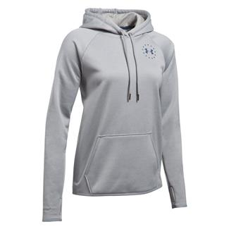Under Armour Freedom Flag Rival Hoodie True Gray Heather / Blackout Navy
