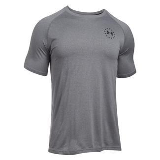 Under Armour Freedom Tech T-Shirt True Gray Heather / Black