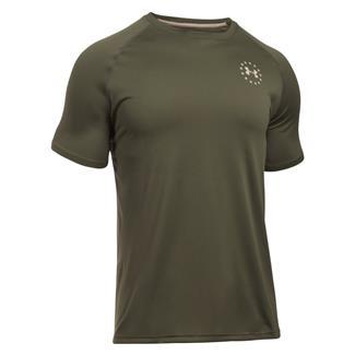 Under Armour Freedom Tech T-Shirt Marine OD Green / Desert Sand