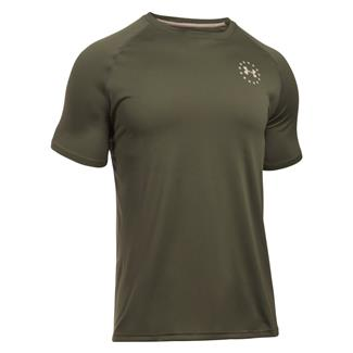 Under Armour Freedom Tech T-Shirt Marine OD Green / Desert Sand
