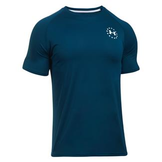 Under Armour Freedom Tech T-Shirt Blackout Navy / White