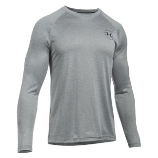 Under Armour Freedom Tech Long Sleeve T-Shirt True Gray Heather / Black