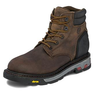 "Justin Original Work Boots 6"" Commander-X5 Round Toe 400G WP Whiskey Barrel Buffalo"