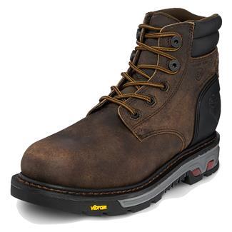 "Justin Original Work Boots 6"" Commander-X5 Round Toe 400G CT WP Whiskey Barrel Buffalo"