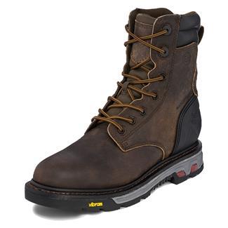 "Justin Original Work Boots 8"" Commander-X5 Round Toe 400G WP Whiskey Barrel Buffalo"