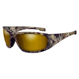 Wiley X Boss Kryptek Highlander (frame) - Polorized Venice Gold Mirror (lens)