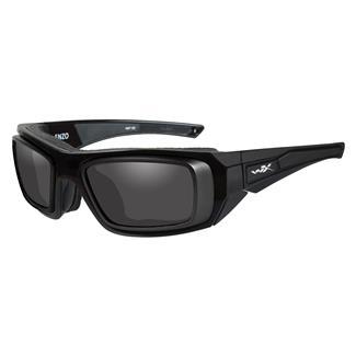 Wiley X Enzo Gloss Black with Rx Rim (frame) - Smoke Gray (lens)