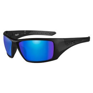 Wiley X Nash Matte Black (frame) - Polorized Blue Mirror (lens)