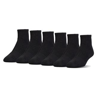 Under Armour Charged Cotton 2.0 Quarter Socks - 6 Pack Black