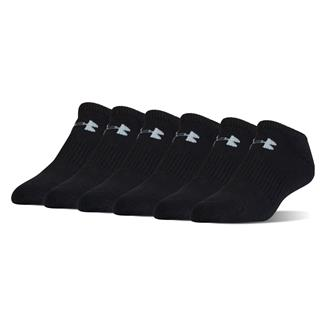 Under Armour Charged Cotton 2.0 No Show Socks - 6 Pack Black