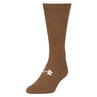 Under Armour Tactical HeatGear Boot Socks Coyote Brown / White