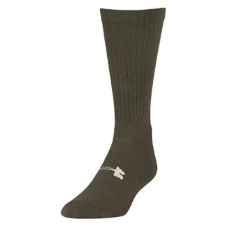 Under Armour Tactical HeatGear Boot Socks Marine Green / White