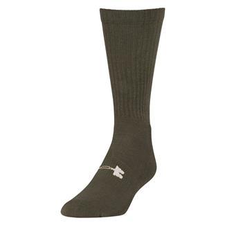 Under Armour Tactical HeatGear Boot Socks Marine Green / White
