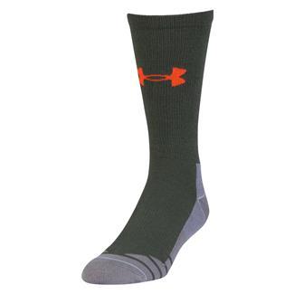 Under Armour Hitch Lite 3.0 Boot Socks Combat Green / Volcano Orange