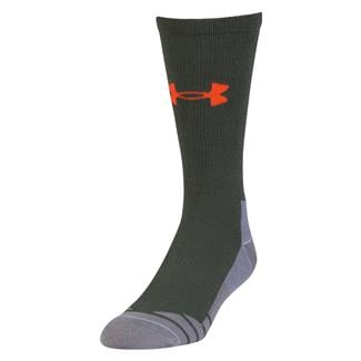Under Armour Hitch Lite 3.0 Boot Socks Combat Green / Volcano Orange